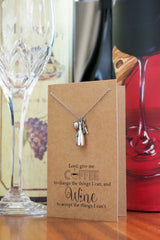 Coffee and Wine Necklace, Personalized Gifts for Her - Quan Jewelry 4