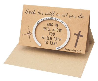 Noemi Bible Verse Engraved Flat Cuff Bracelet, Religious Jewelry with Inspirational Quote