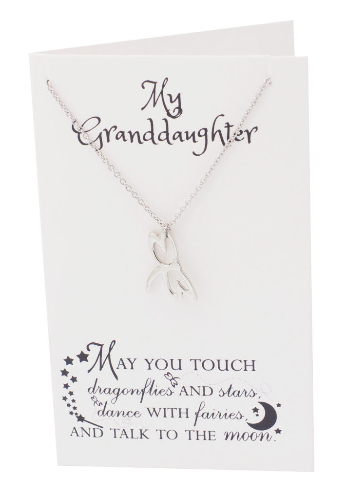 Dragonfly Necklace Inspirational Jewelry, Happy Birthday Granddaughter Gifts - Quan Jewelry 5
