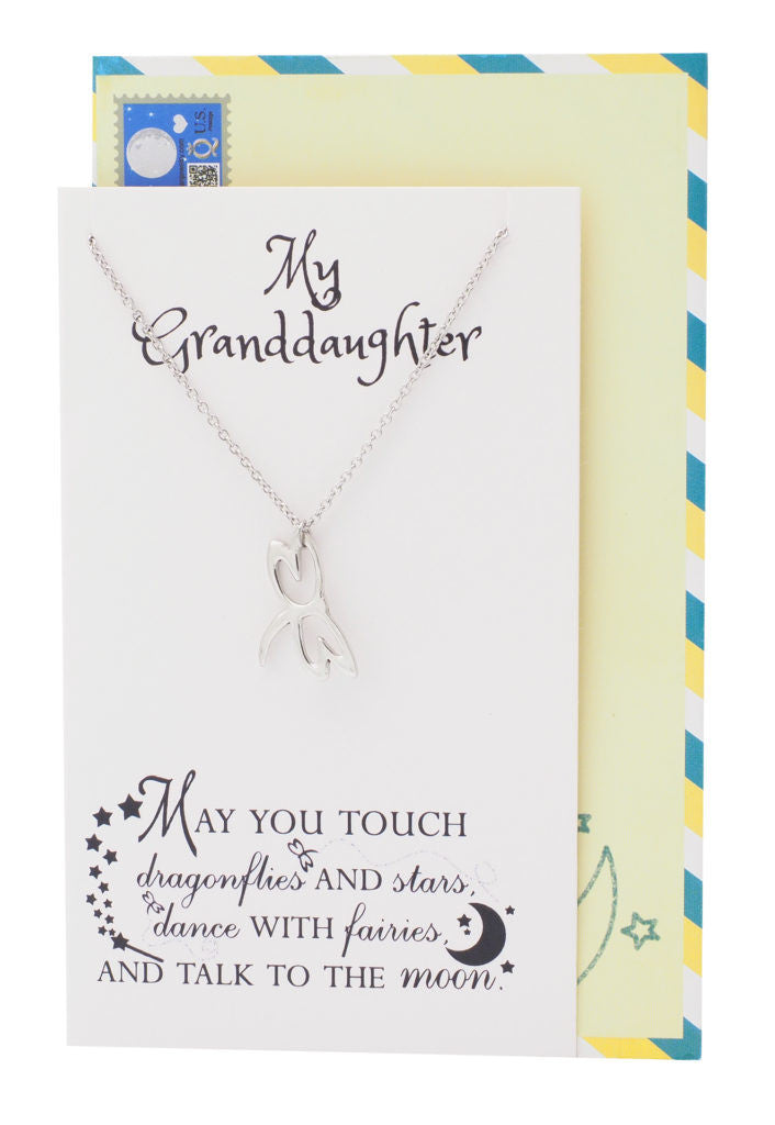 Dragonfly Necklace Inspirational Jewelry, Happy Birthday Granddaughter Gifts - Quan Jewelry 6