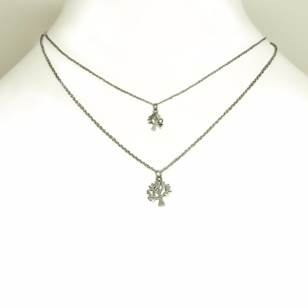 Ayiesha Tree of Life Necklace, Mother Daughter Jewelry,  - Quan Jewelry - 7