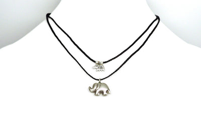 Mother Daughter Elephant Charm Necklace with Gift Box and Greeting Card - Quan Jewelry 5