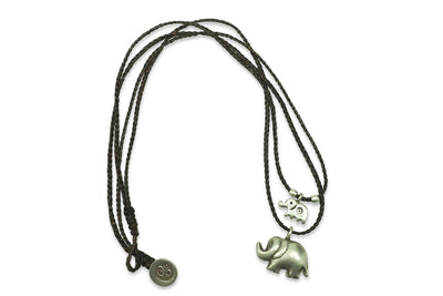 Mother Daughter Elephant Charm Necklace with Gift Box and Greeting Card - Quan Jewelry 4