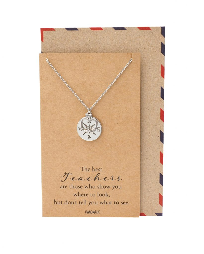 Everleigh Compass and Apple Pendant Necklace