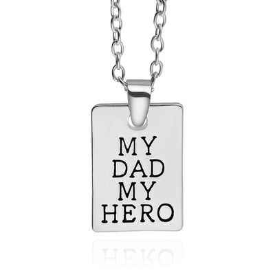 Akia My Dad My Hero Engraved Gifts Memorial Jewelry