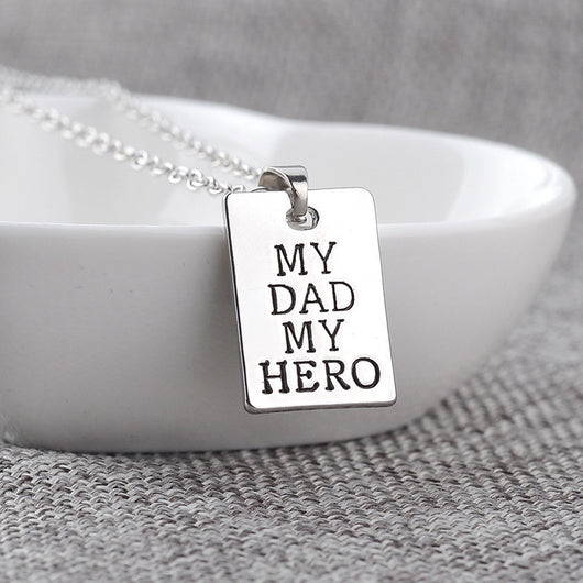 Akia My Dad My Hero Engraved Gifts Memorial Jewelry - Quan Jewelry ...