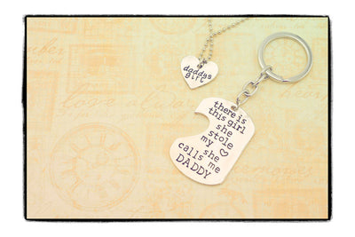 Dominic Father Daughter Personalized Keychain