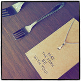 Mariele Fork Charm Necklace, Get Well Card, Gift for Chefs,  - Quan Jewelry - 12