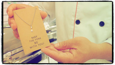 Mariele Fork Charm Necklace, Get Well Card, Gift for Chefs,  - Quan Jewelry - 9
