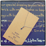 Mariele Fork Charm Necklace, Get Well Card, Gift for Chefs,  - Quan Jewelry - 10