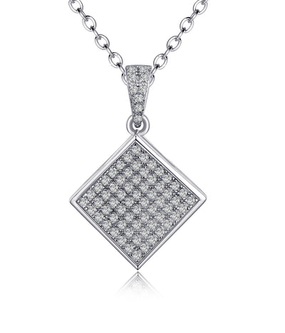 Aiyana Rhodium Plating Diamond Charm Earrings, Necklace,