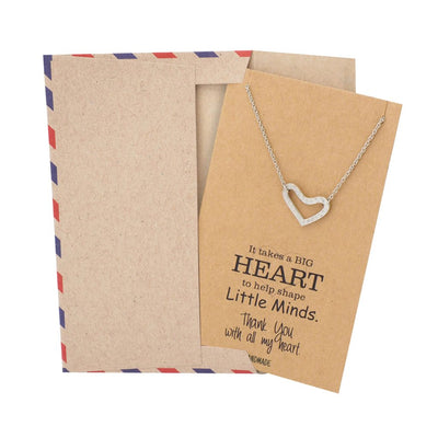 Heart Necklace and Thank You Cards