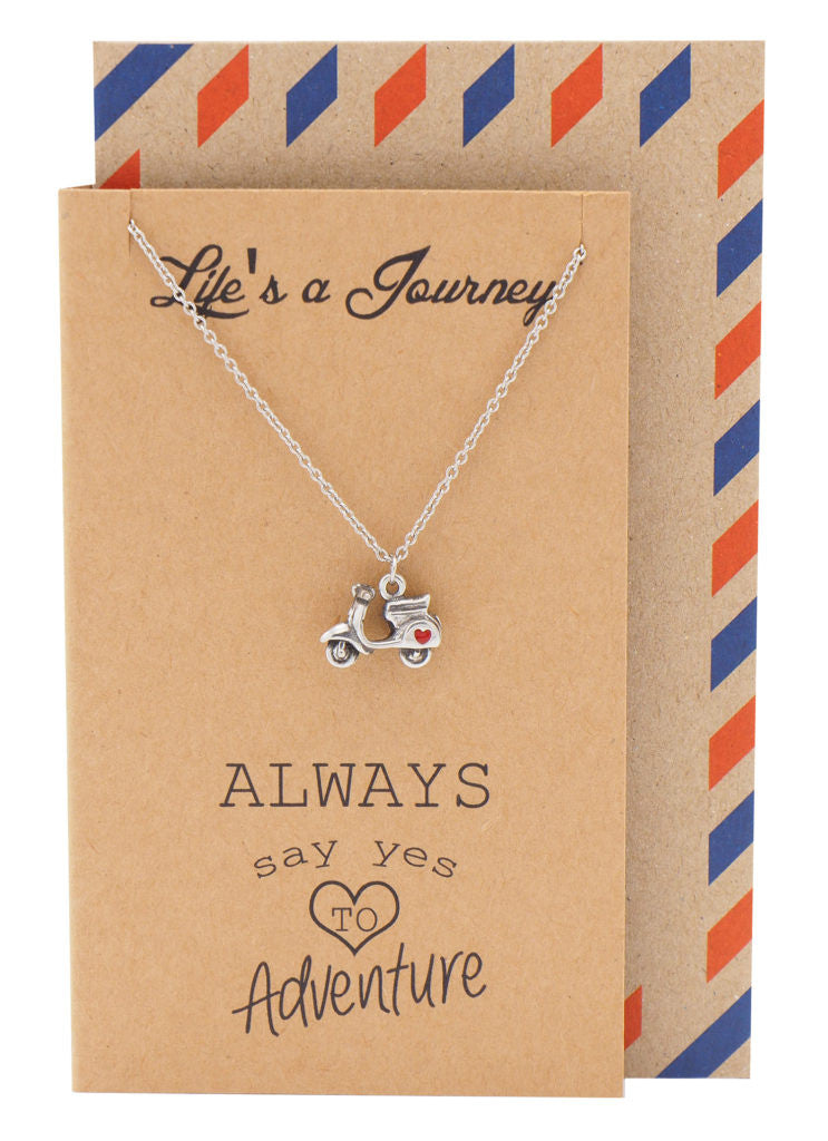 Pia It's a Journey Necklace with Scooter Charm
