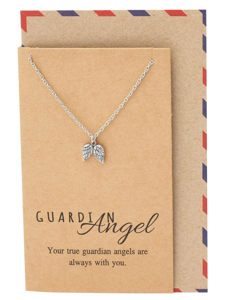 Cassiel Guardian Angel Wings Necklace,  - Quan Jewelry - 3