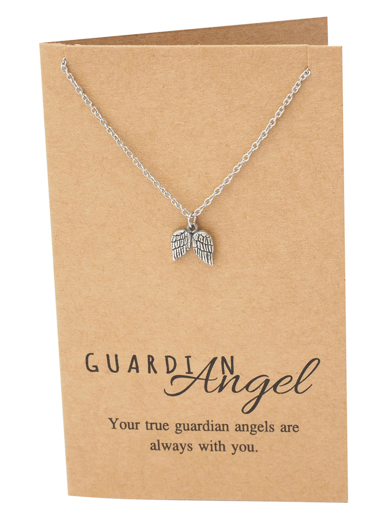 Cassiel Guardian Angel Wings Necklace,  - Quan Jewelry - 5