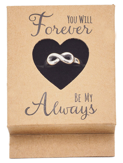 Akeisha Infinity Ring Forever & Always Promise Rings