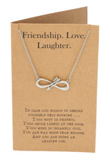 Infinity Arrow Friendship Necklace for Women with Inspirational Quote, Gift for Best Friends - Quan Jewerly 3