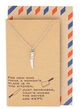 Drew Gifts for Mom Knife Necklace Women's Day Quotes on Greeting Card - Quan Jewelry