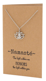 Aura Yoga Lotus Pose Necklace, Yoga Jewelry,  - Quan Jewelry - 2