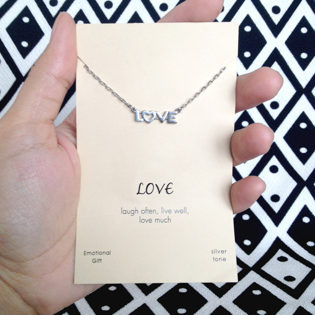 Claire Laugh, Live and Love Necklace - Quan Jewelry