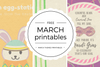 Free March Themed Printables