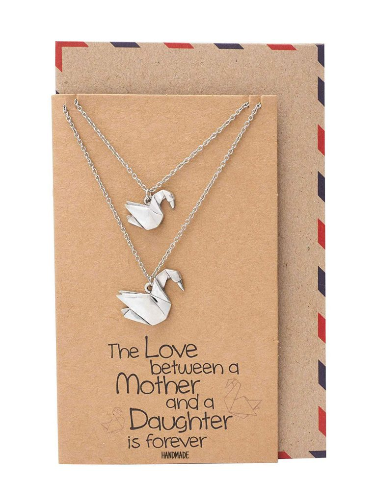 Mayumi Origami Swan Matching Necklaces