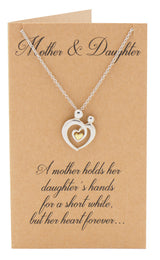 Evie Mother's Heart Necklace, Mothers Day Jewelry,  - Quan Jewelry - 3
