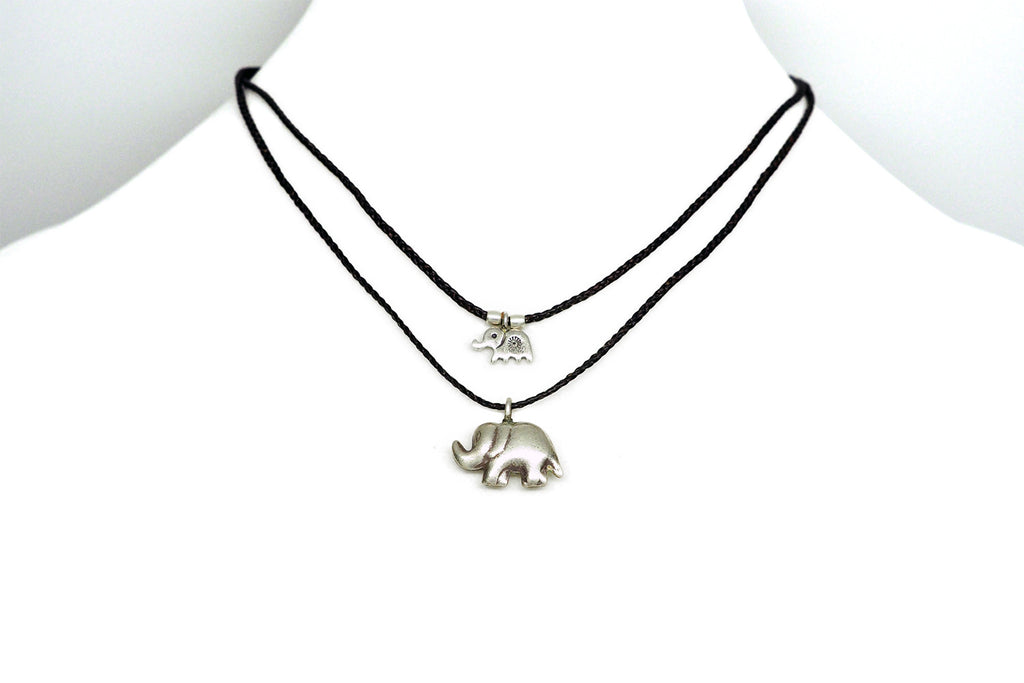 Sunee Elephant Necklace with 2 Elephant Pendants,  - Quan Jewelry - 3