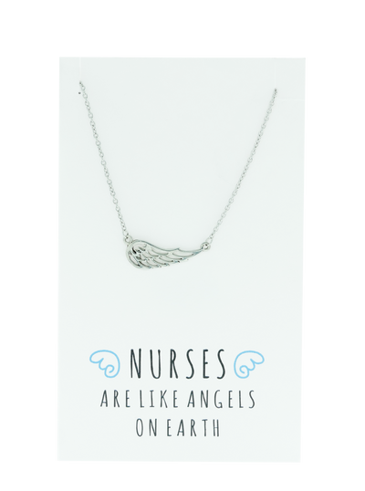 Riona Angel Wing Necklace, Gifts for Nurses, Sister