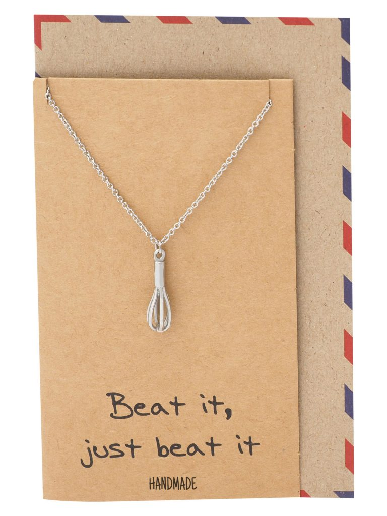 Elizabeth Cute Whisk Egg Beater Pendant Necklace