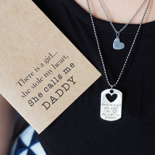 Lovely Mason Father Daughter Personalized Engraved Necklaces, Father's  OJ74