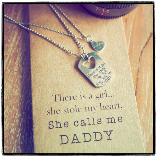 Top Mason Father Daughter Personalized Engraved Necklaces, Father's  QJ48