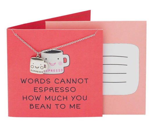 Kit Funny Puns Jewelry Gifts, Words Cannot Espresso How Much You Bean To Me
