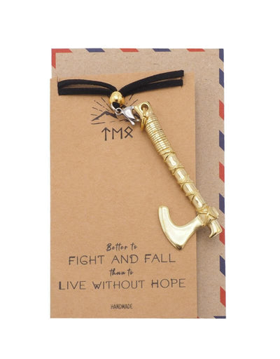 Aidan Axe Necklace, Motivational Gifts with Inspirational Greeting Card