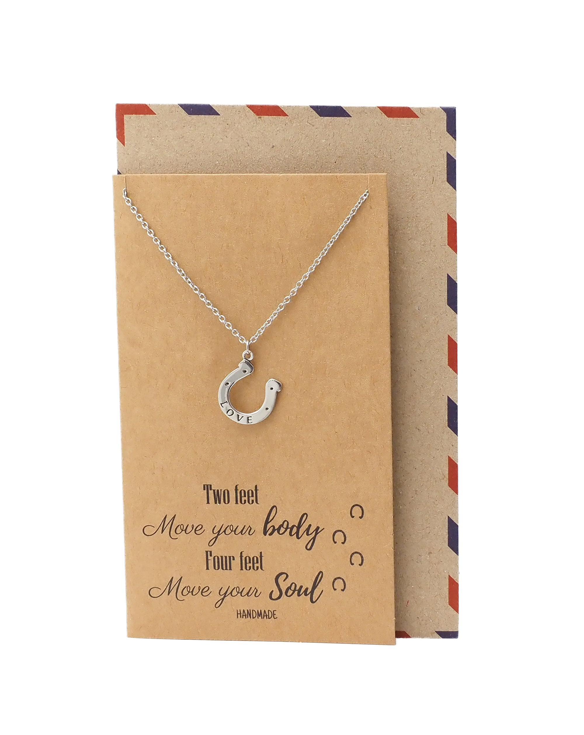Danielle Horseshoe Necklace, Good Luck Gifts for Horse Lovers