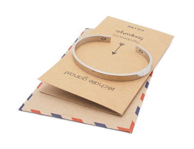 Lavinia Keep Fucking Going Spanish Cuff Bracelet, Gifts for Women with Inspirational and Motivational Greeting Card