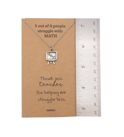 Vashti Math Teacher Gifts, Inspirational Quote on Greeting Card