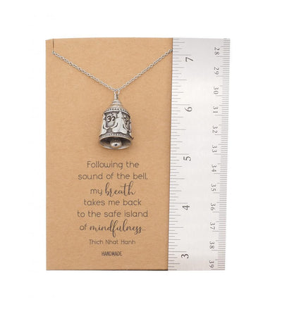 Aleah Buddha Bell Necklace Inspirational Quotes Jewelry Greeting Card