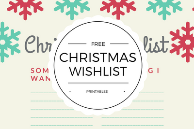 Free Christmas Wishlist Printables