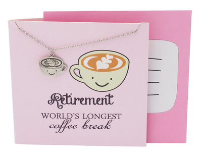Arya Funny Puns Coffee Necklace