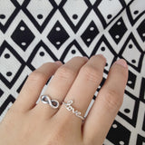 Carina Love Script Ring, Best Friends, Promise And Wedding Rings, Gifts For Her, 925 Sterling Silver - Quan Jewelry
