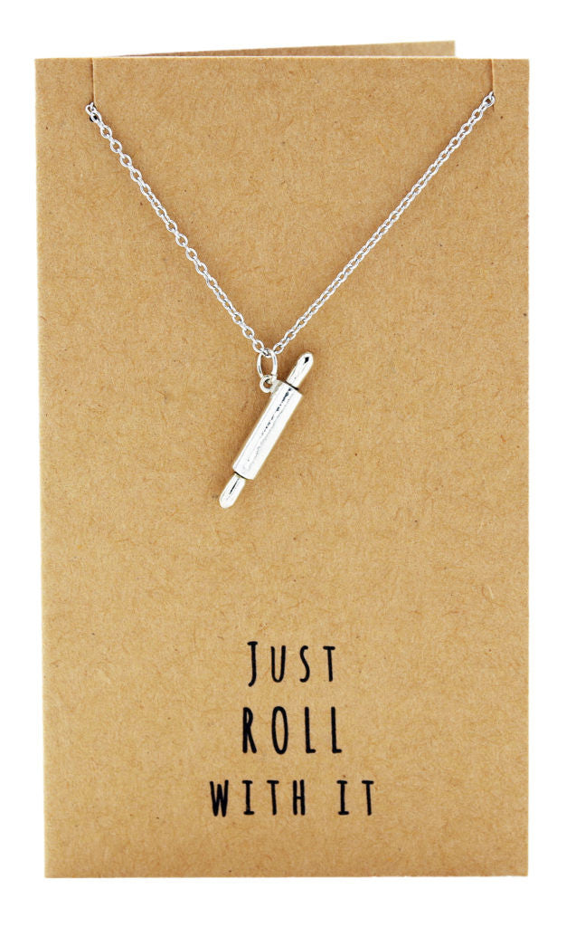 Jamie Chef Jewelry with Rolling Pin Pendant,  - Quan Jewelry - 5