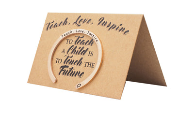 Teach. Love. Inspire Engraving with Greeting Card
