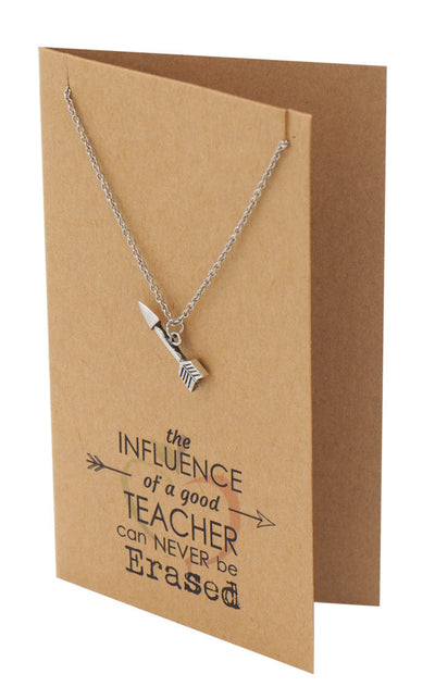 Arrow Necklace and Inspirational Quote Card