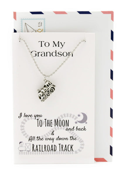 Train Necklace, Personalized Gifts