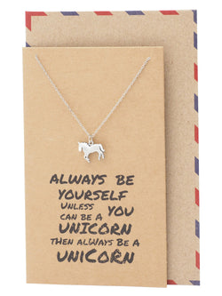 Neri Graduation Gifts Unicorn Necklace Inspirational Jewelry