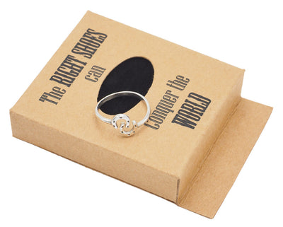 Ariane Lucky Horseshoe Emotional Ring with a Greeting card - Quan Jewelry