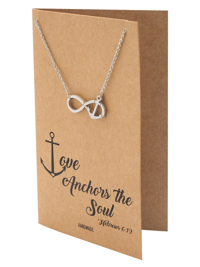Maylene Infinity Anchor Necklace