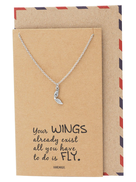 Adannaya Graduation Gifts for Her, Wing Necklace, Graduation Jewelry - Quan Jewelry