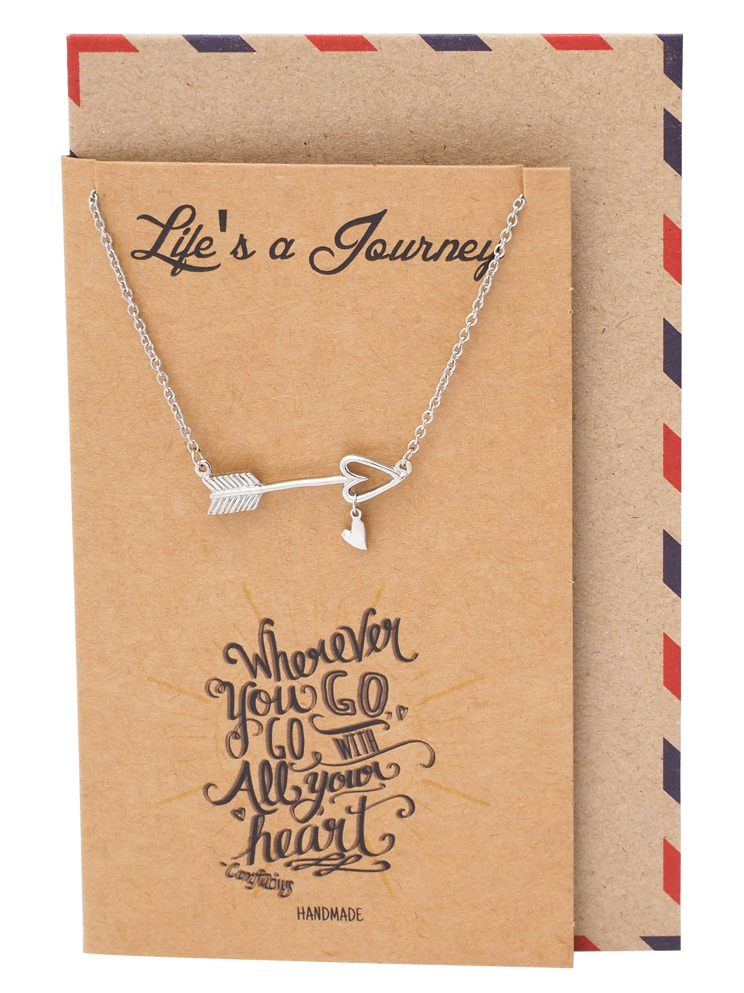 Jody Graduation Gifts Arrow Necklace Inspirational Jewelry